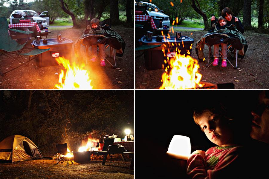 Campfire at Lakedale Resort on San Juan Island