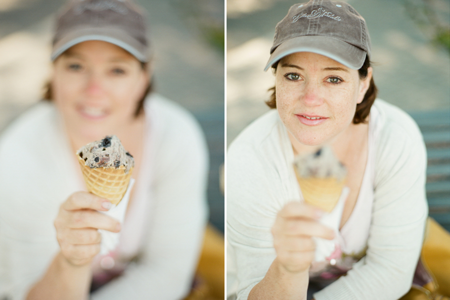 Ice Cream from the Friday Harbor Ice Cream Company in Friday Harbor on San Juan Island